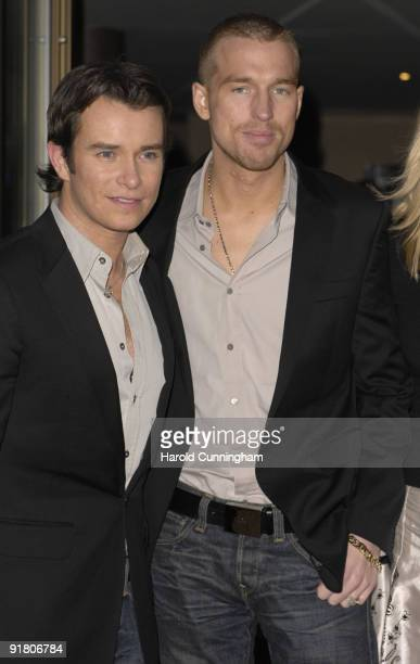 Boyzone singer Stephen Gately and partner Andrew Cowles