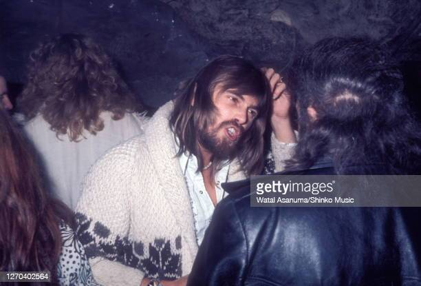 Boz Burrell of Bad Company at a Swan Song Records party for the release of The Pretty Things' 'Silk Torpedo' album, Chislehurst Caves, Kent, 31st...