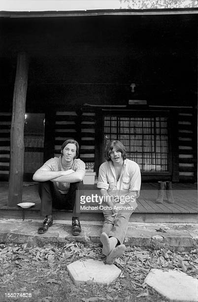 Boz Scaggs takes a break from recording his second album with producer Jann Wenner at Otis Redding's ranch on May 5, 1969 near Macon, Georgia.