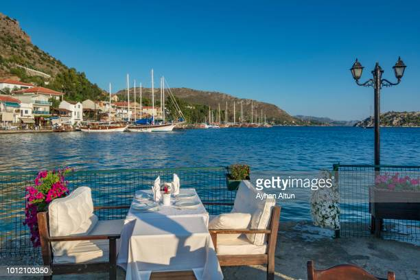 bozburun bay in marmaris district of mugla,turkey - aegean turkey stock pictures, royalty-free photos & images