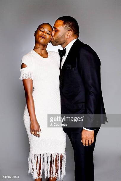 V Bozeman and Anthony Anderson pose for a portrait on February 21 2016 in Los Angeles California