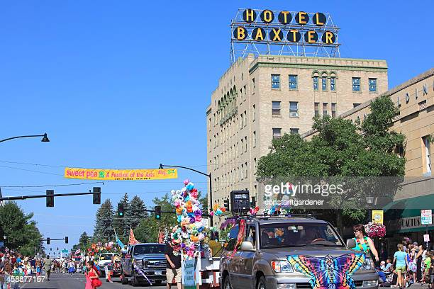 bozeman montana sweet pea festival of the arts parade. - bozeman stock pictures, royalty-free photos & images