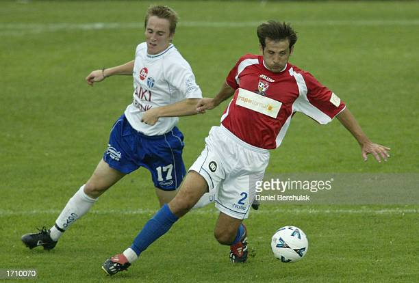 Bozidar Cacic of United in action during the NSL round 16 match between Sydney United and South Melbourne at the Sydney United Sports Centre in...