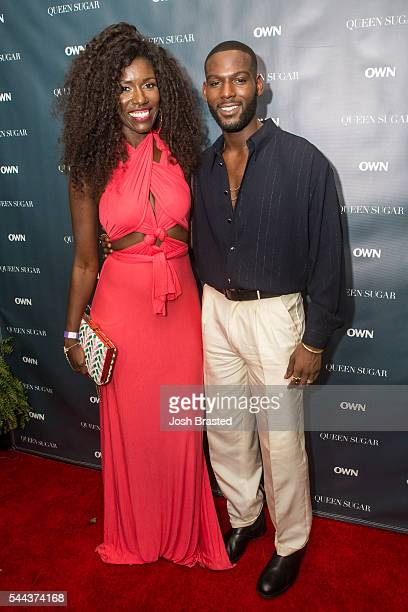 Bozoma Saint John and Kofi Siriboe attend a cocktail reception for 'Queen Sugar' at Liberty Kitchen on July 2 2016 in New Orleans Louisiana