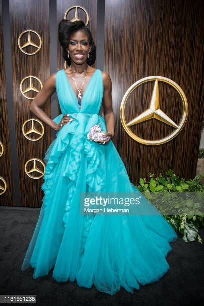 Bozoma Saint John arrives at the MercedesBenz USA's Oscars Viewing Party at Four Seasons Hotel Los Angeles at Beverly Hills on February 24 2019 in...