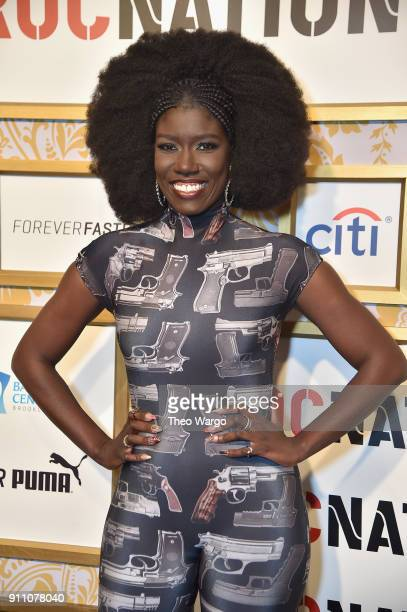 Bozoma Saint John attends Roc Nation THE BRUNCH at One World Observatory on January 27 2018 in New York City