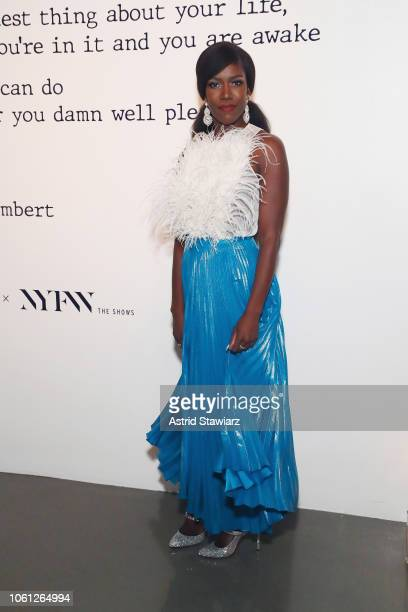 Bozoma Saint John attends the Visa x IMG Fashion Holiday Dinner at The Glasshouses on November 13 2018 in New York City