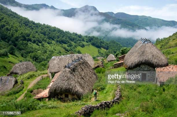 braña la pornacal, somiedo natural park, pola de somiedo, asturias, spain. - principado de asturias fotografías e imágenes de stock