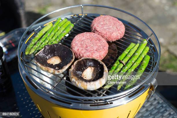 Brabecuing on a portable barbecue