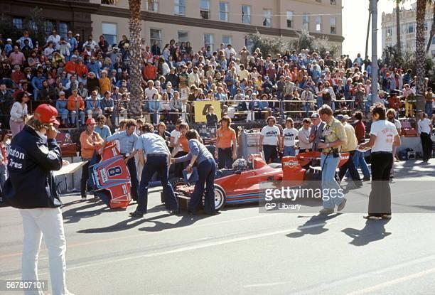 BrabhamAlfa Romeo BT46 designed by Gordon Murray having a nose change US GP West at Long Beach USA 1976