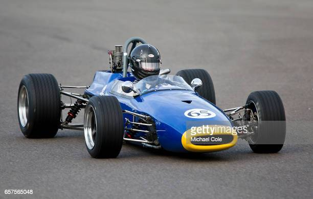 BrabhamFord BT21A in the Derek Bell Cup race during the 75th Member's Meeting at Goodwood on March 18 2017 in Chichester England