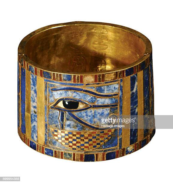 Bracelet with the Eye of Horus, 943-922 BC. Found in the collection of The Egyptian Museum, Cairo. Artist : Ancient Egypt.