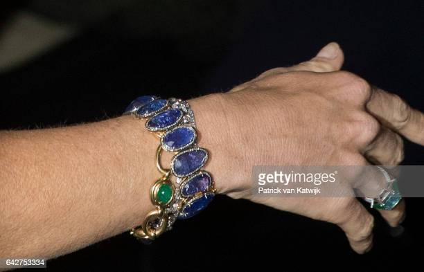 Bracelets of Queen Maxima of The Netherlands who opens the exhibition Royal Paradise Aert Schulman and the imagination of nature in the Dordrechts...