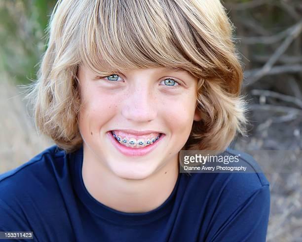 Braces teen boy