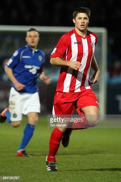 Brackley Town's Ben Mills during the The FA Cup with Budweiser Second Round match between Macclesfield Town and Brackley Town at The Moss Rose Ground...