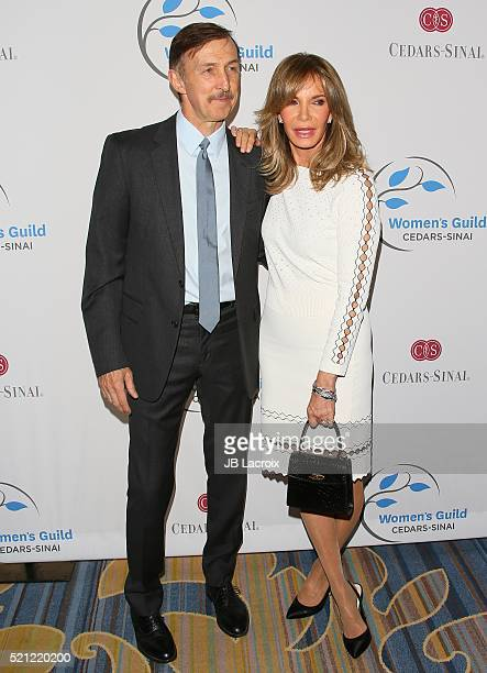 Brad Allen and Jaclyn Smith attend the 2016 Women's Guild CedarsSinai Annual Spring Luncheon at the Beverly Wilshire Four Seasons Hotel on April 14...