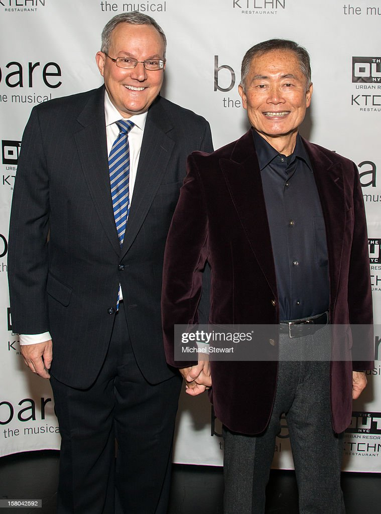 Brad Altman (L) and actor George Tekai attend 'BARE The Musical' Opening Night at New World Stages on December 9, 2012 in New York City.