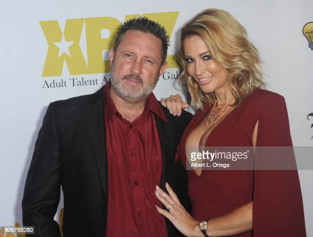 Brad Armstrong and Jessica Drake arrive for XBiz's RISE Performer Appreciation Event held at 1 Oak on November 15 2017 in West Hollywood California