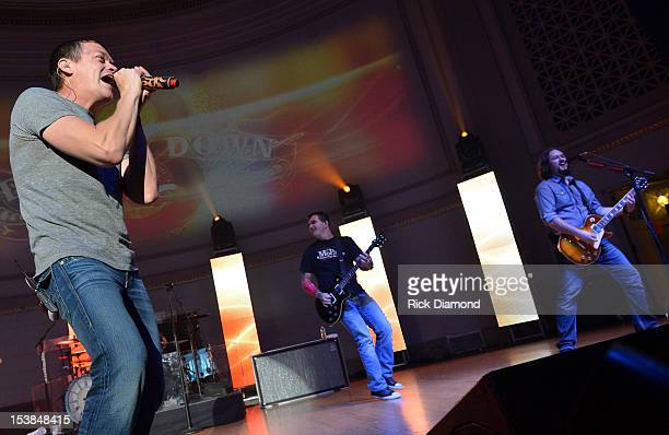 Brad Arnold and Todd Harrell of 3 Doors Down perform onstage during the Agency Group Party at at IEBA Conference Day 3 at the War Memorial Auditorium...