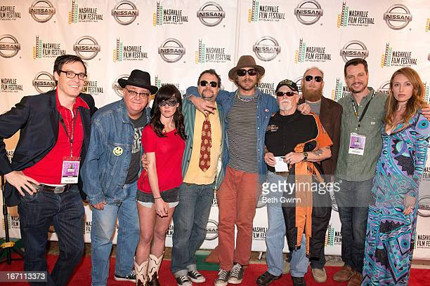 Brad Barnes JJ Johnson Amanda Shires Paul Griffin Todd Snider Phil Coffman Brian Kincaid Todd Barnes and Tanya Coe of the film East Nashville Tonight...