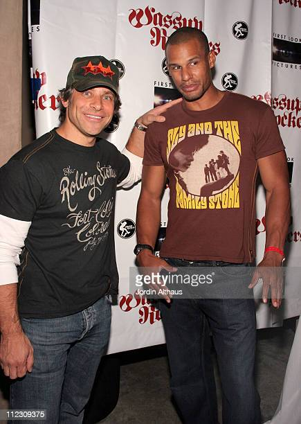 Brad Beckerman and Eric Weldon during Trunk Ltd Party at LAX Nightclub July 6 2006 at LAX Night Club in Hollywood California United States
