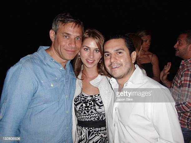 Brad Beckerman Chase Naphtal and Michael Wainstein pose circa June 2010 in The Hamptons