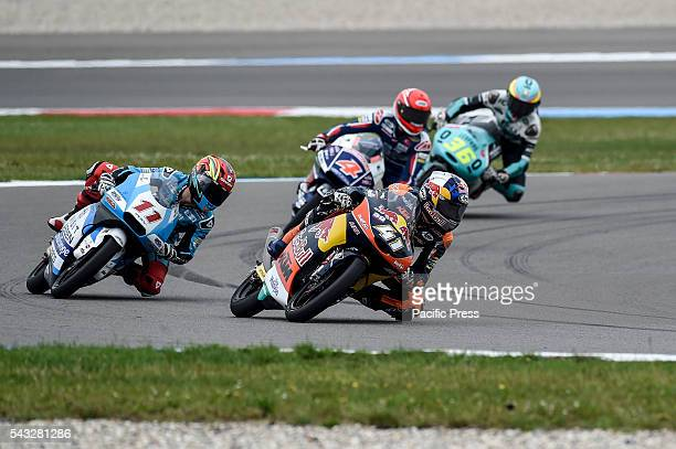 Brad Binder during the qualifying sessions in Assen