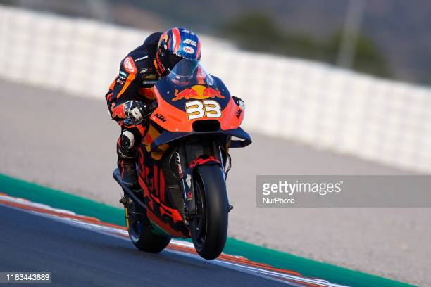Brad Binder of Republic of South Africa and Red Bull KTM Ajo KTM during the test of the new MotoGP season 2020 at Ricardo Tormo Circuit on November...