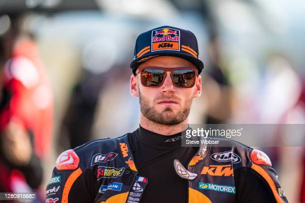 Brad Binder of South Africa and Red Bull KTM Factory Racing at the starting grid during the MotoGP of Aragon at Motorland Aragon Circuit on October...