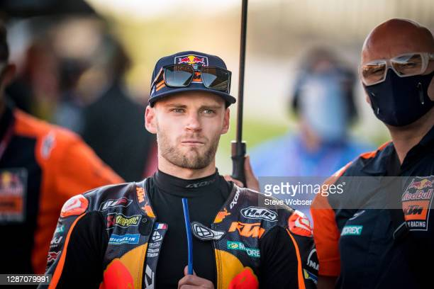 Brad Binder of South Africa and Red Bull KTM Factory Racing at the starting grid during the MotoGP of Portugal at Algarve Motor Park on November 22,...