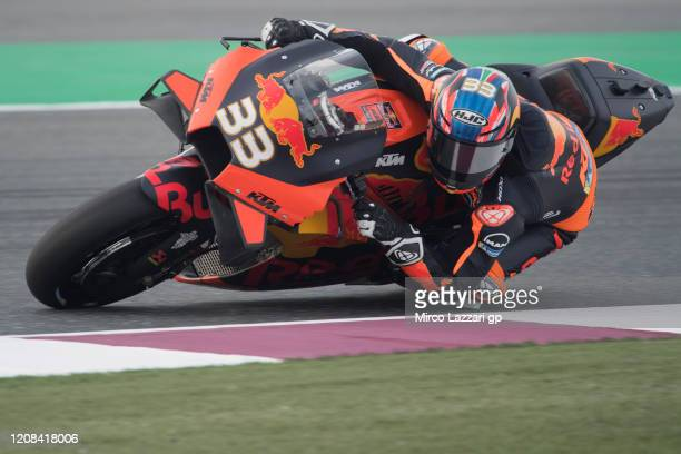 Brad Binder of South Africa and Red Bull KTM Factory Racing rounds the bend during the MotoGP Tests at Losail Circuit on February 24, 2020 in Doha,...