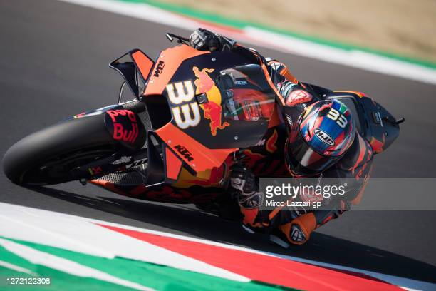 Brad Binder of South Africa and Red Bull KTM Factory Racing rounds the bend during the MotoGP Of San Marino - Qualifying at Misano World Circuit on...