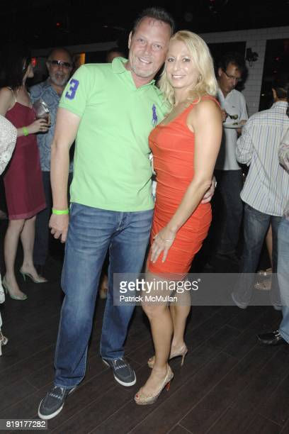 Brad Boles and Ruth Katz attend Nic Roldan Shamin Abas and Tracy Mourning Host Hamptons Social Series Dinner For St Jude's at Lily Pond on July 24...