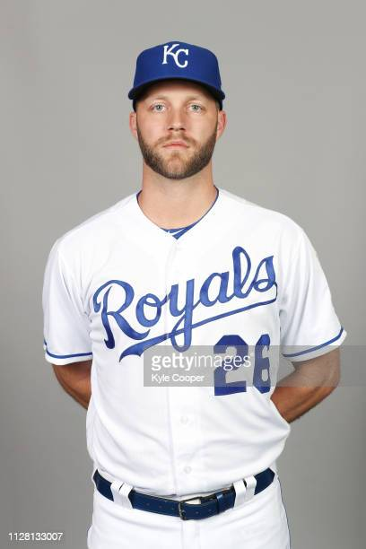 Brad Boxberger of the Kansas City Royals poses during Photo Day on Thursday February 21 2019 at Surprise Stadium in Surprise Arizona