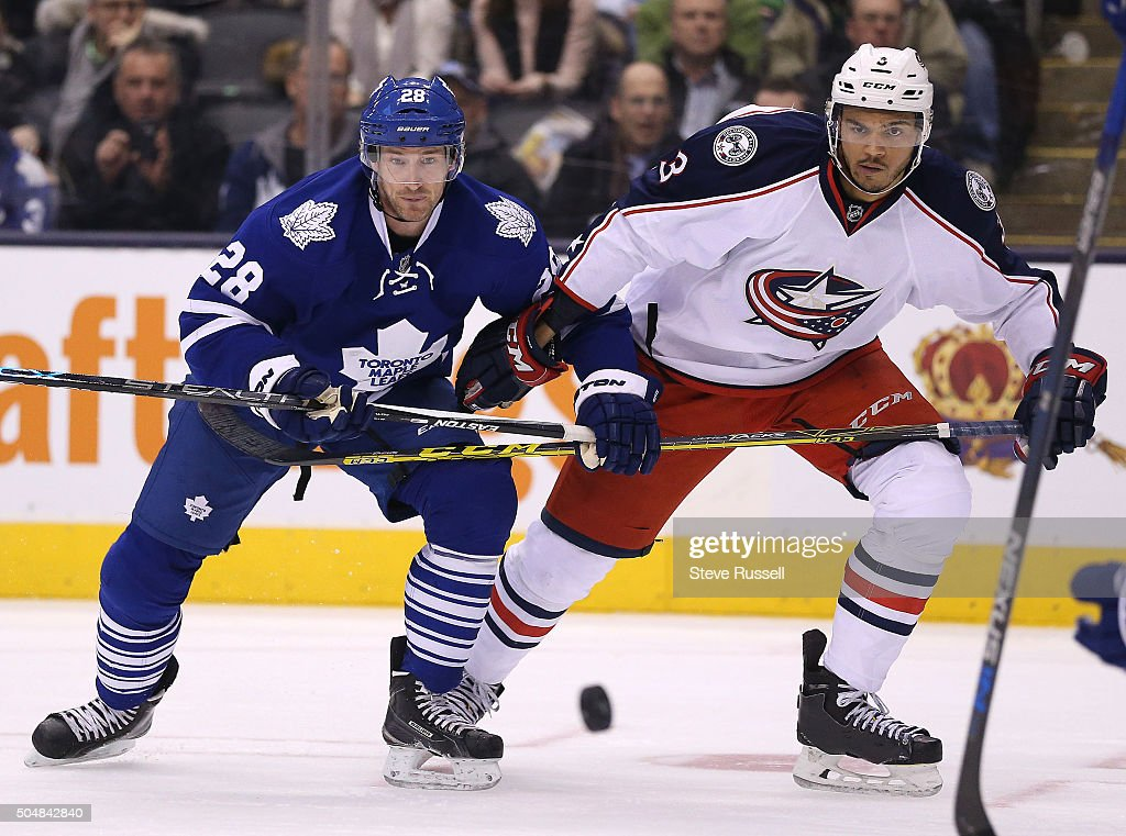Toronto Maple Leafs lose to the Columbus Blue Jackets 3-1 : News Photo