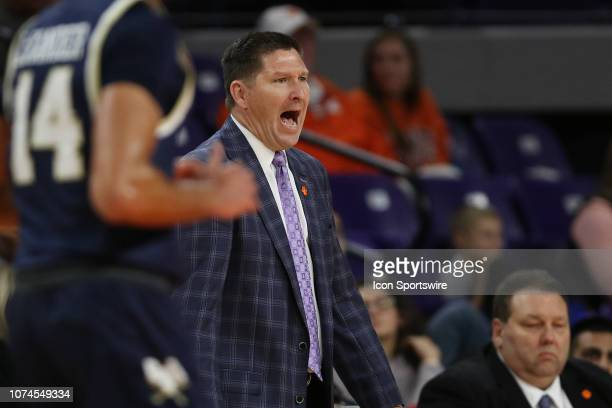 Brad Brownell head coach of Clemson during a college basketball game between the Charleston Southern Buccaneers and the Clemson Tigers on December 18...