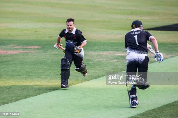 Brad Cachopa and Captain Peter Fulton of New Zealand Kiwis run between the wickets during Day 1 of Hong Kong Cricket World Sixes 2017 Group B match...