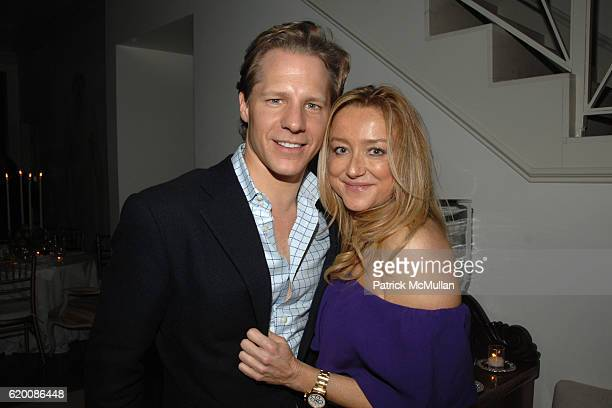 Brad Comisar and Caroline Berthet attend ALEX HITZ Birthday Party at Alex Hitz Home on February 23 2008 in Hollywood Hills CA
