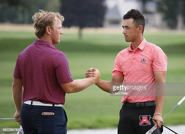 Brad Dalke from Norman, Oklahoma wins the semifinal match 3-2 over Jonah Texeira from Porter Ranch, California played on the South Course of Oakland...