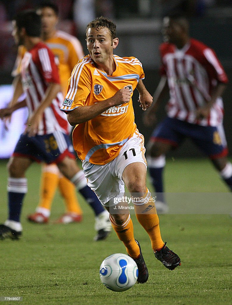 Brad Davis #11 of Houston Dynamo in action against Chivas USA at The Home Depot Center October 20, 2007 in Carson, California. Chivas takes the regular season Western Conference title following a scoreless draw with Dynamo.