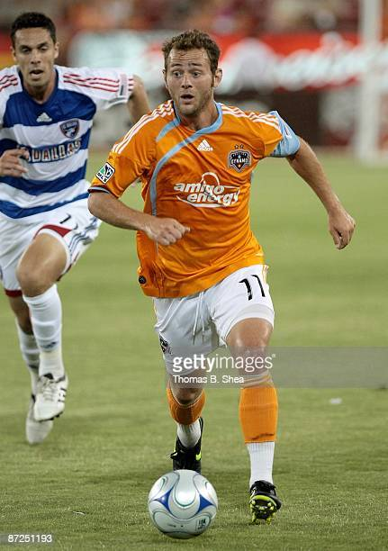 Brad Davis of the Houston Dynamo controls the ball against the FC Dallas at Robertson Stadium on May 9, 2009 in Houston, Texas.