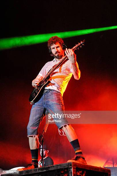 Brad Delson of Linkin Park performs onstage during River City Rockfest at the ATampT Center on May 24 2015 in San Antonio Texas