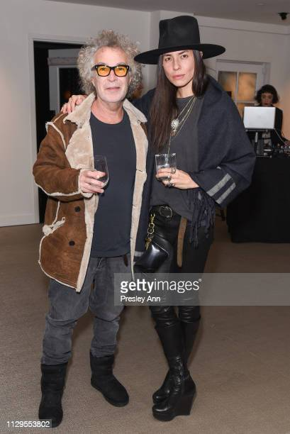 Brad Elterman and Tasya van Ree attends Oliver Peoples x Tasya van Ree Celebrates Who is Oliver Exhibition at LECLAIREUR on February 13 2019 in Los...