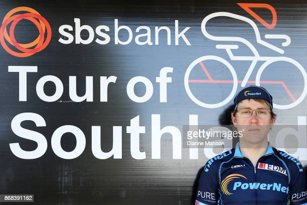 Brad Evans of Dunedin Powernet looks on after day 3 stage two from Riverton to Te Anau during the 2017 Tour of Southland on October 31 2017 in...