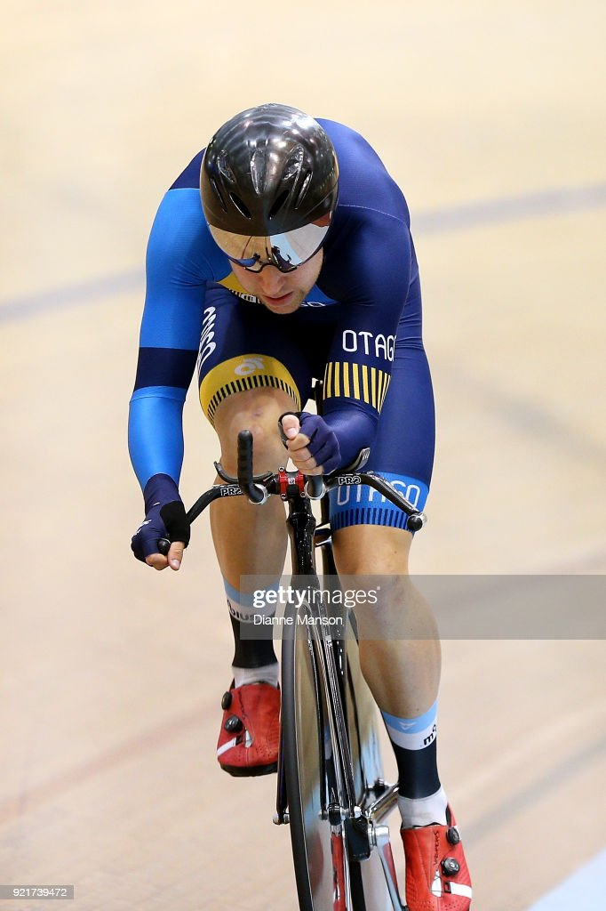 Brad Evans of Otago competes in the Elite Men 4000m Individual Pursuit during the New Zealand Track Cycling Championships on February 21, 2018 in Invercargill, New Zealand.