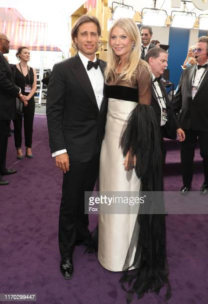 Brad Falchuk and Gwyneth Paltrow attend FOXS LIVE EMMY RED CARPET ARRIVALS during the 71ST PRIMETIME EMMY AWARDS airing live from the Microsoft...