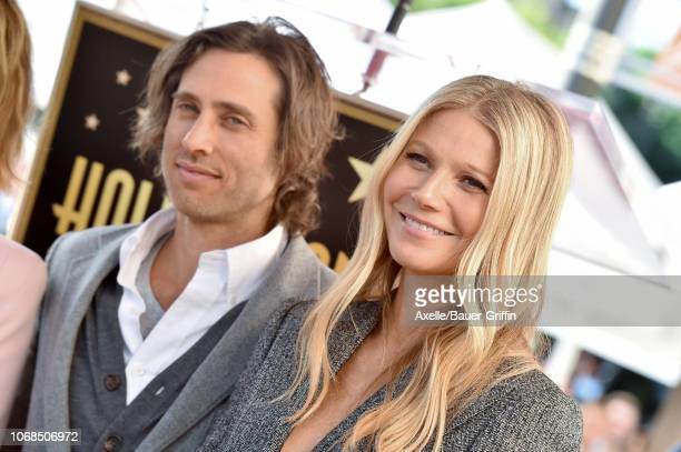 Brad Falchuk and Gwyneth Paltrow attend the ceremony honoring Ryan Murphy with star on the Hollywood Walk of Fame on December 4 2018 in Hollywood...