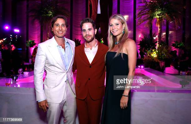 """Brad Falchuk, Ben Platt, and Gwyneth Paltrow attend """"The Politician"""" New York Premiere after party at The Pool on September 26, 2019 in New York City."""