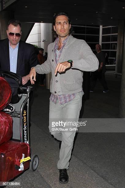 Brad Falchuk is seen at LAX on January 27 2016 in Los Angeles California