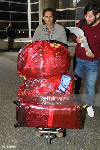Brad Falchuk is seen at LAX on January 27 2016 in Los Angeles California